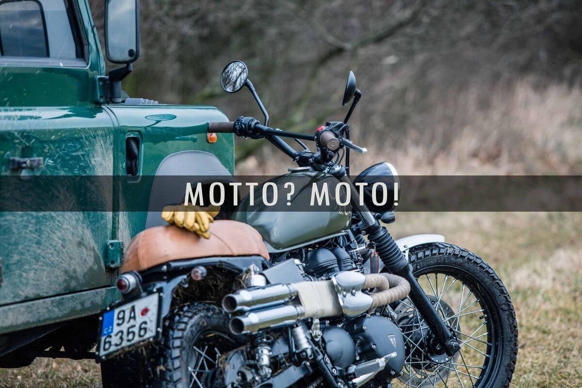 přestavěná motorka Triumph Bonneville