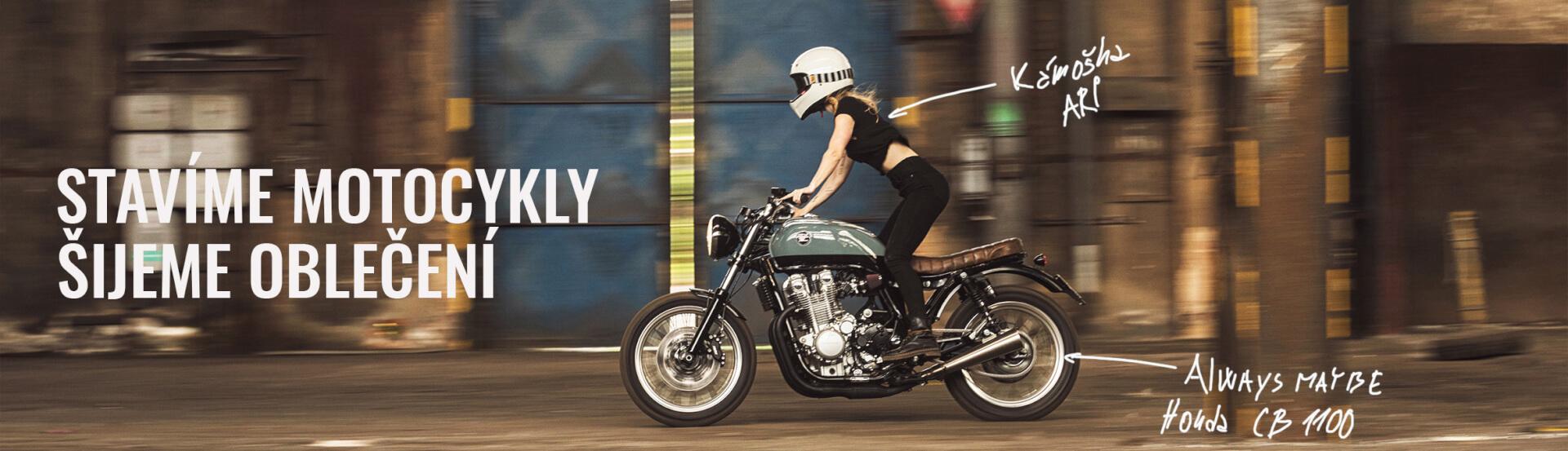děláme motorky cafe racer tracker scrambler