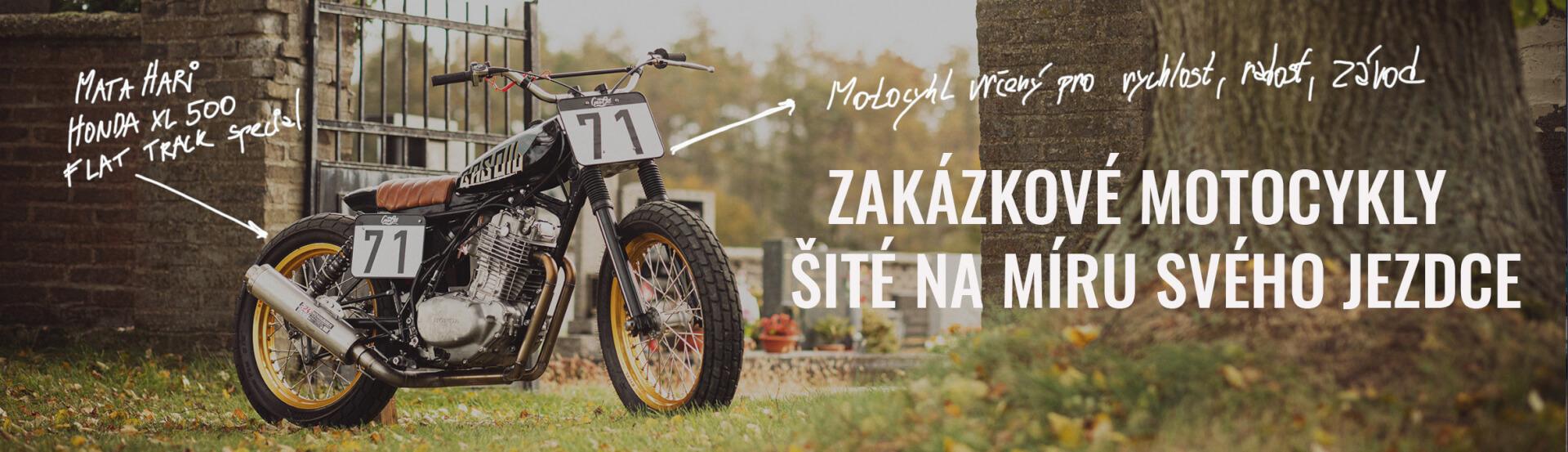 zakázkové motocykly šité na míru jezdce